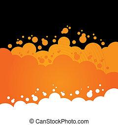 Orange Bubbly Background Design
