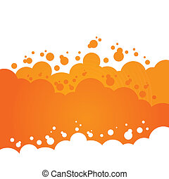 Orange Bubbly Background Design - An abstract design with...