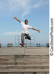 man jumping - jumping
