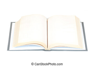open book on a white background