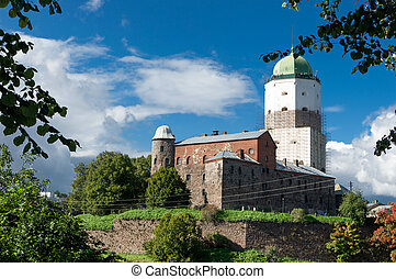 the medieval castle of Vyborg,Russia