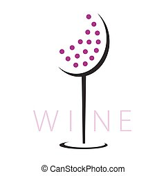glass of red wine illustration vector