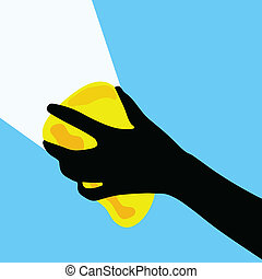 cleaning glass vector illustration in color