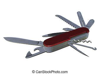 多, 工具, 刀