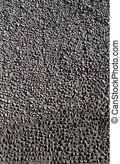 gravel in concrete texture - gray gravel involved in the...