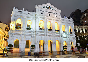 The Holy House of Mercy building in Macau