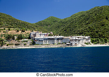 Monastery on the mount Athos in Greece
