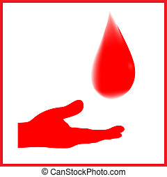 Blood donation sign vector with gradient mash
