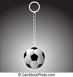 soccer ball on a fob