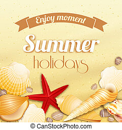 Summer holiday vacation background - Summer holiday vacation...