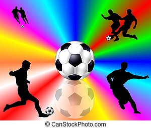 colored Soccer background - multi-colored Soccer background...