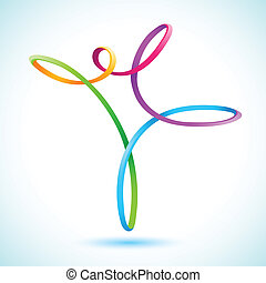 Colorful swirly figure vector