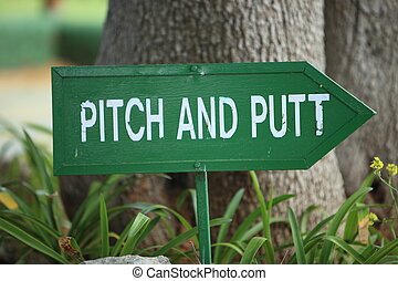 Pitch and Putt signpost