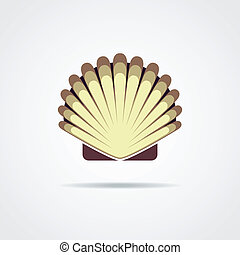 Shell vector symbol isolated on a white background