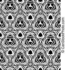 Vintage vector art deco pattern in black and white