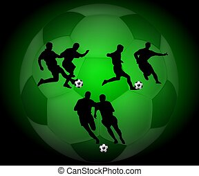 soccer background x-ray- style