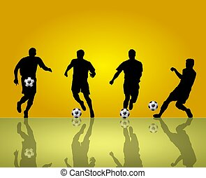 soccer silhouettes background