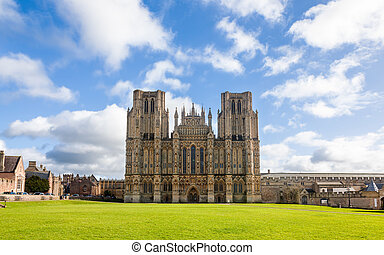 Wells Somerset - Wells Cathedral Somerset England UK Europe