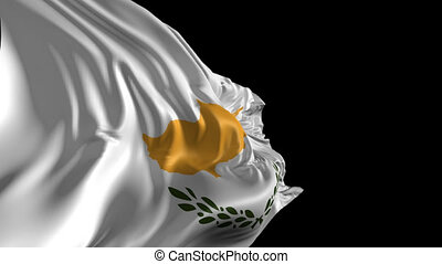 Flag of Cyprus - Beautiful 3d animation of Cyprus flag with...