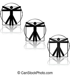 Vitruvian icon - Icon representation of the famous drawing...