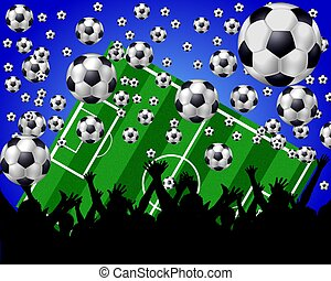 soccer fans background