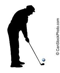 golfer during a putt