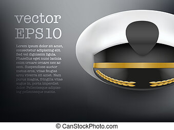 Background of captain peaked cap vector - Background of...