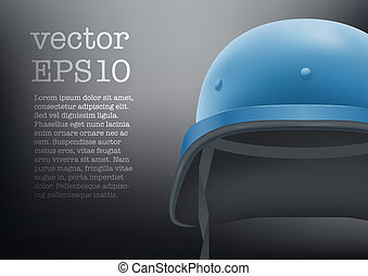helmet of United Nations vector background - Background of...