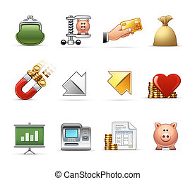 Money, Budget and Savings - Professional icon set, ready to...