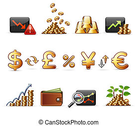 Finance, Money and Economy - Professional icon set, ready to...