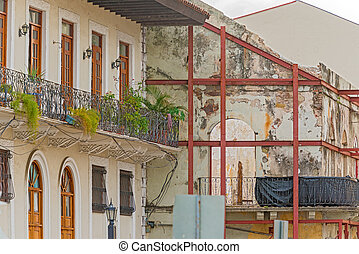 Casco Viejo, Panama City - Old houses in Casco Viejo in...
