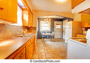 Dining and kitchen room interior