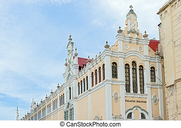Panama City, Casco Viejo - Palace Bolivar in Panama City ,...