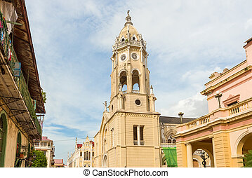Panama City Casco Viejo - Old church in Panama city in Casco...