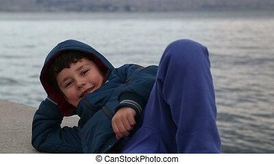 Portrait of a happy little boy