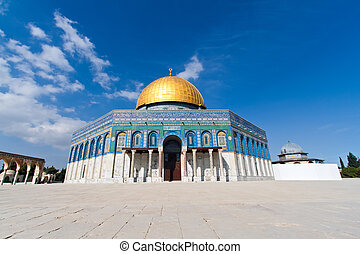 The Dome of the Rock on the Temple Mount , Jerusalem, Israel...