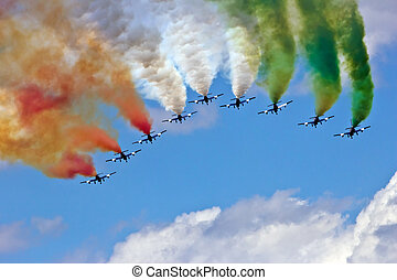 Frecce Tricolori - VOLKEL, THE NETHERLANDS - JUNE 15: The...