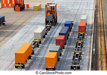 Container terminal - Large port container terminal and...