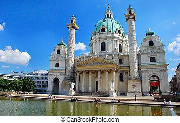 Karlskirche, Vienna - Karlskirche (German for St. Charles\'s...