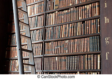Trinity College Library - DUBLIN, IRELAND - FEB 15: The Long...