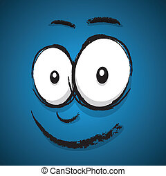 happy cartoon face
