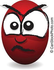 cartoon angry egg face