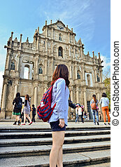 ruin of St.Paul church, macau, china - ruin of St.Paul...