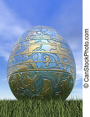 Easter egg - 3D render
