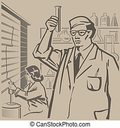 Chemists researching