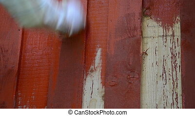hand paint wood wall - hand paint outdoor wooden plank wall...