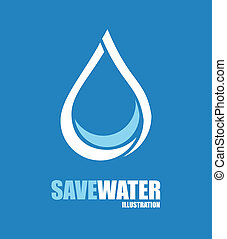 save water design over blue background vector illustration