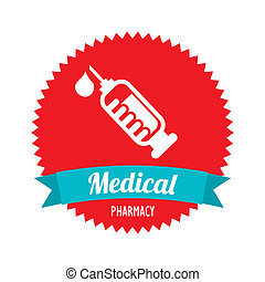 injection isolated over white background. vector...