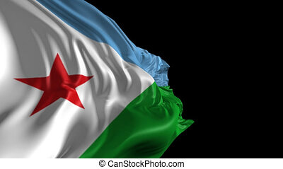 Flag of Djibouti - Beautiful 3d animation of Djibouti flag...