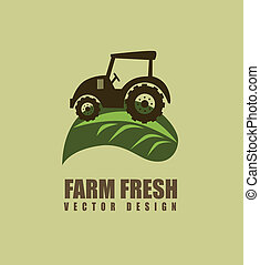 farm design over  background vector illustration